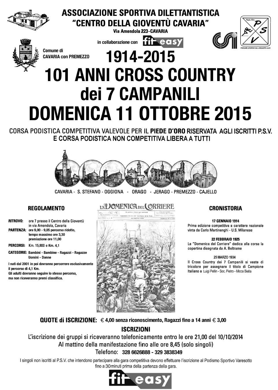 101 Anni cross country dei 7 campanili